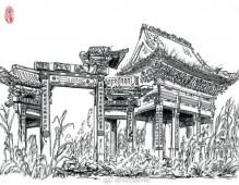 39岁大叔用钢笔画再现百余古建筑 (8)