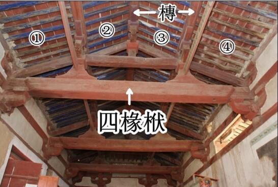 古建筑木结构四椽栿