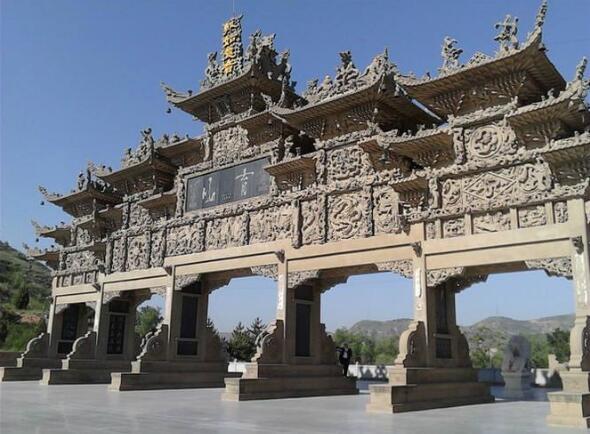 【山门】寺庙的山门_古建石雕山门_山门三个门怎么走
