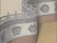 手绘中国各类古建筑围墙图片:园林之墙、宅院之墙、村落之墙、宫廷之墙、城市之墙、疆域之墙 (16)