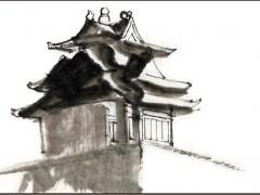 九梁十八柱七十二条脊的-故宫角楼搭建过程手绘图片 (17)
