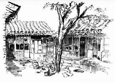曹雪芹故居-手绘古建筑图片-99古建网