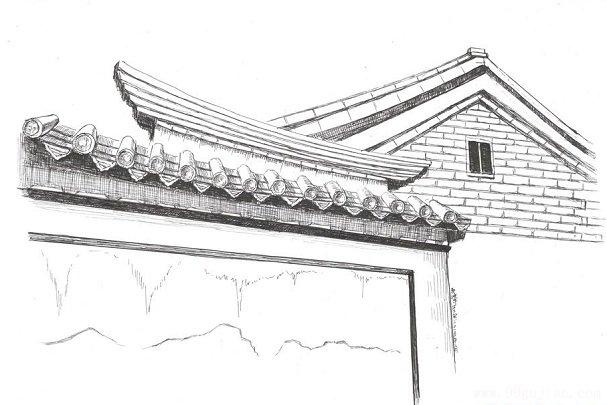 古建筑影壁素描图片-钟表素描图片下载时钟简笔画图片素材