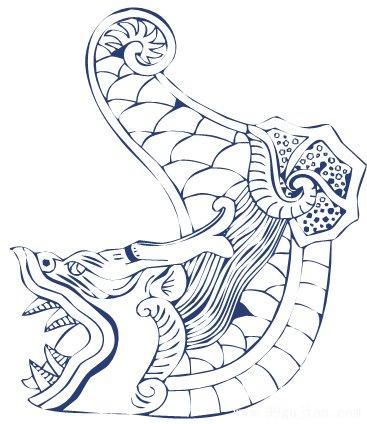 辟邪獬豸手绘线稿