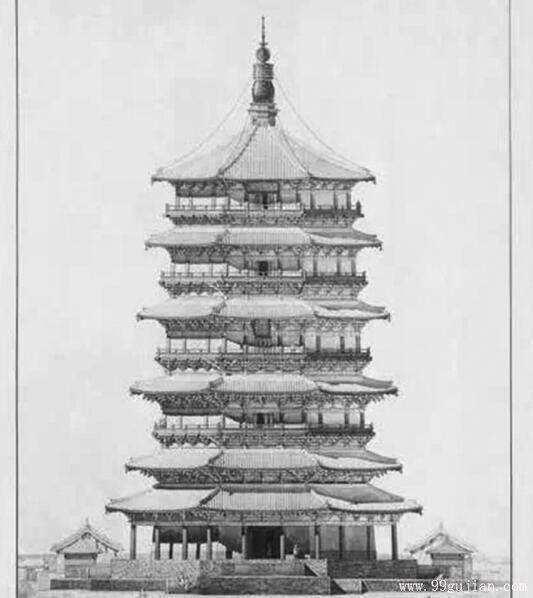 梁思成《图像中国建筑史》手绘图重新翻拍出版